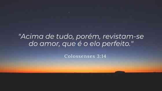 Versículos bíblicos sobre amor - Colossenses 3:14